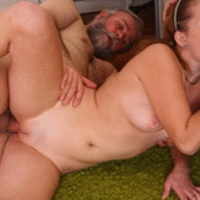 Sveta gets two cocks full of cum all over her sexy petite body and loves when they cum for her.