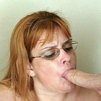 Tattoed Grandma Blowjob